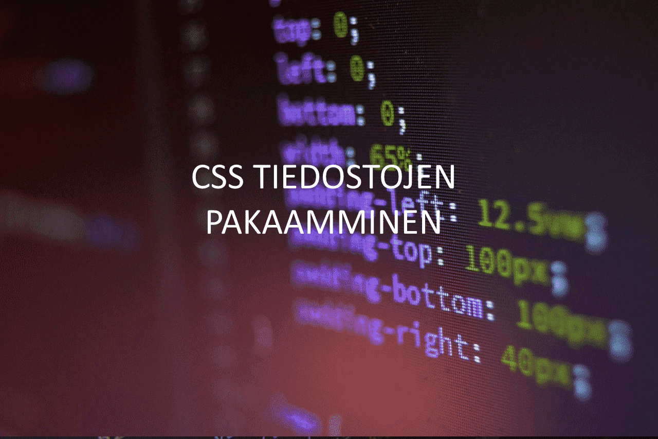 AXNDatan SEO tykalut - CSS tiedostojen pakkaaminen