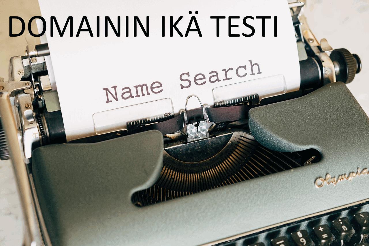 AXNDatan SEO tykalut - Domainin ikä testi