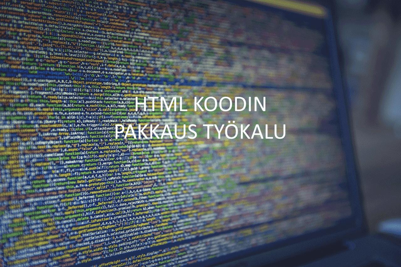 AXNDatan SEO tykalut - HTML Koodin pakkaus työkalu